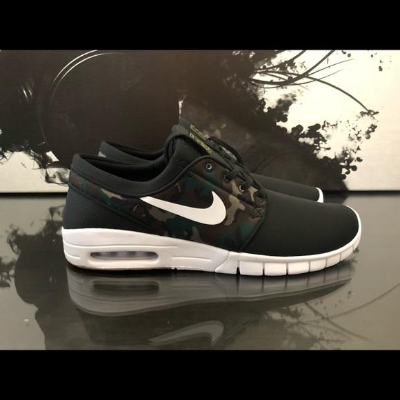979e27a5ad8e1 Nike Shoes | Mens Sb Stefan Janoski Max Black Camo | Poshmark